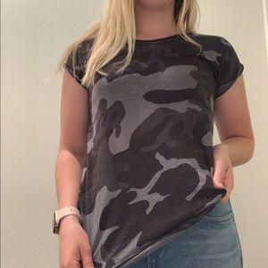 free people black camo short sleeve t-shirt